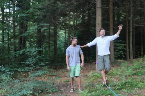 slackline for relaxation